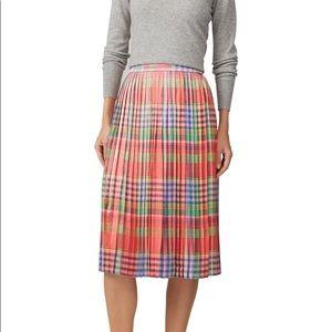 J. Crew Shimmering Pleated Midi Skirt Small